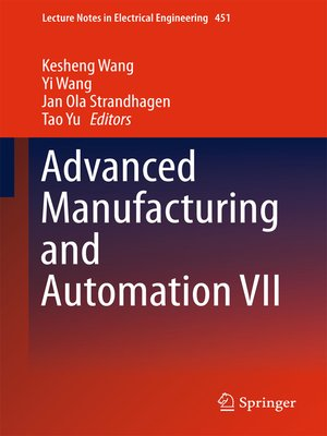 cover image of Advanced Manufacturing and Automation VII