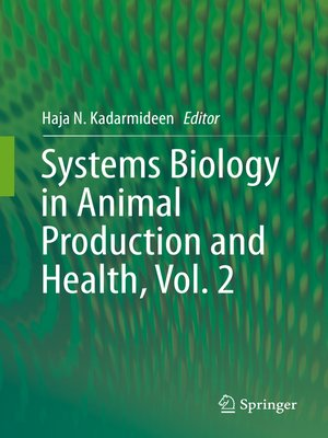 cover image of Systems Biology in Animal Production and Health, Volume 2