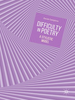 cover image of Difficulty in Poetry