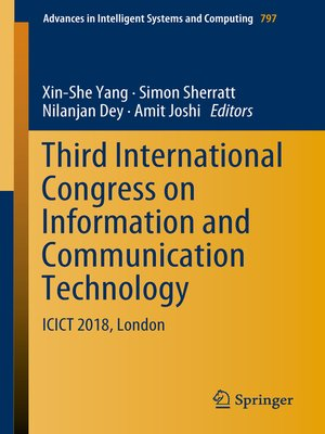 cover image of Third International Congress on Information and Communication Technology