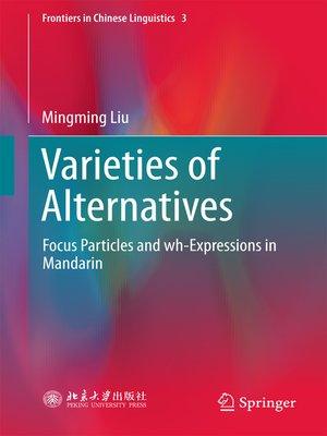 cover image of Varieties of Alternatives