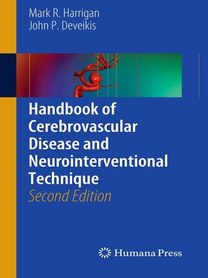 cover image of Handbook of Cerebrovascular Disease and Neurointerventional Technique