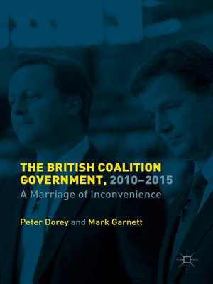 cover image of The British Coalition Government, 2010-2015