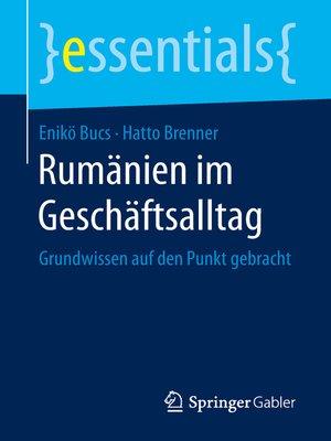 cover image of Rumänien im Geschäftsalltag