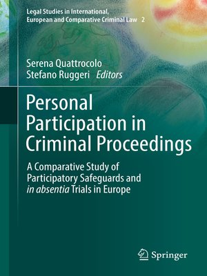 cover image of Personal Participation in Criminal Proceedings