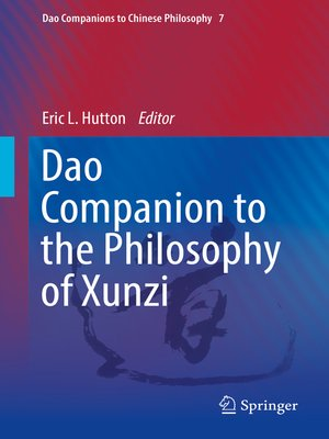 cover image of Dao Companion to the Philosophy of Xunzi