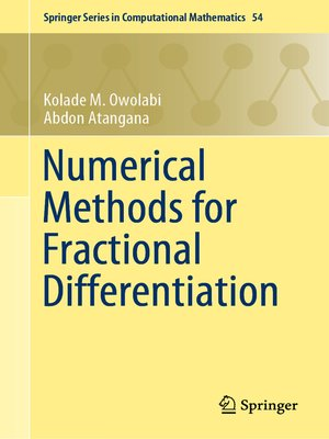 cover image of Numerical Methods for Fractional Differentiation