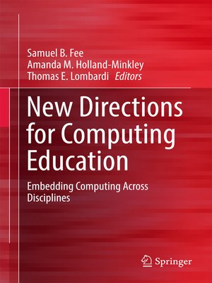 cover image of New Directions for Computing Education