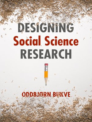 cover image of Designing Social Science Research