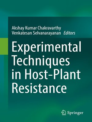 cover image of Experimental Techniques in Host-Plant Resistance