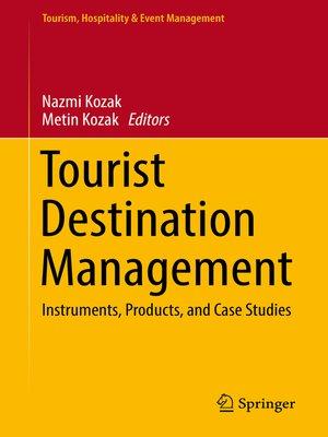 cover image of Tourist Destination Management