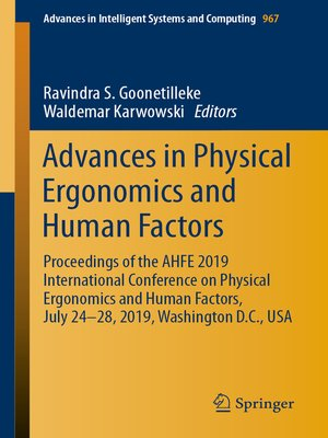 cover image of Advances in Physical Ergonomics and Human Factors