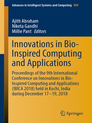 cover image of Innovations in Bio-Inspired Computing and Applications