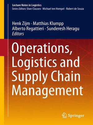 cover image of Operations, Logistics and Supply Chain Management
