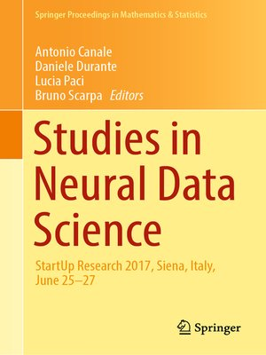 cover image of Studies in Neural Data Science
