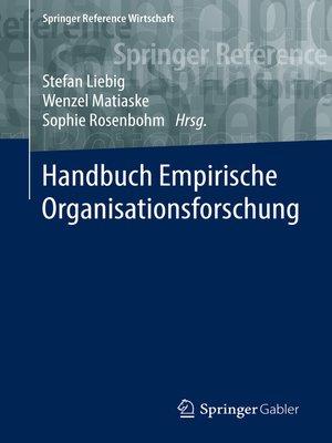 cover image of Handbuch Empirische Organisationsforschung