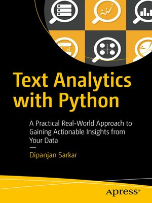 cover image of Text Analytics with Python
