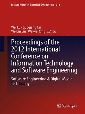 cover image of Proceedings of the 2012 International Conference on Information Technology and Software Engineering