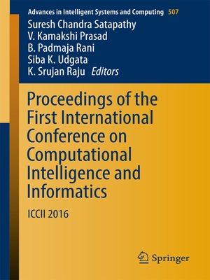 cover image of Proceedings of the First International Conference on Computational Intelligence and Informatics