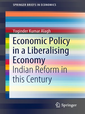 cover image of Economic Policy in a Liberalising Economy
