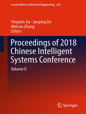 cover image of Proceedings of 2018 Chinese Intelligent Systems Conference