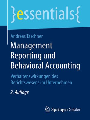 cover image of Management Reporting und Behavioral Accounting