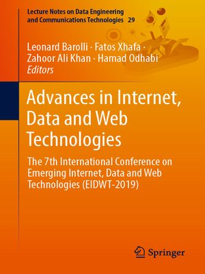 cover image of Advances in Internet, Data and Web Technologies