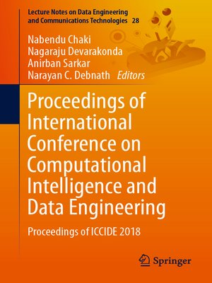 cover image of Proceedings of International Conference on Computational Intelligence and Data Engineering