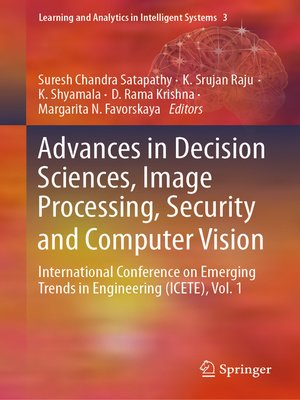 cover image of Advances in Decision Sciences, Image Processing, Security and Computer Vision