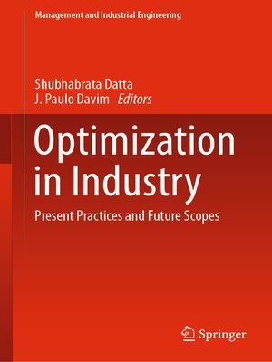cover image of Optimization in Industry