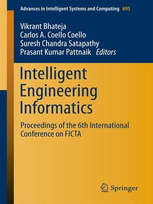 cover image of Intelligent Engineering Informatics