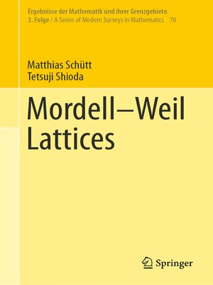 cover image of Mordell–Weil Lattices