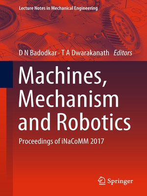 cover image of Machines, Mechanism and Robotics