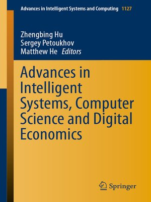 cover image of Advances in Intelligent Systems, Computer Science and Digital Economics