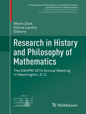cover image of Research in History and Philosophy of Mathematics
