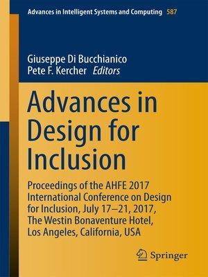 cover image of Advances in Design for Inclusion