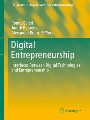 cover image of Digital Entrepreneurship