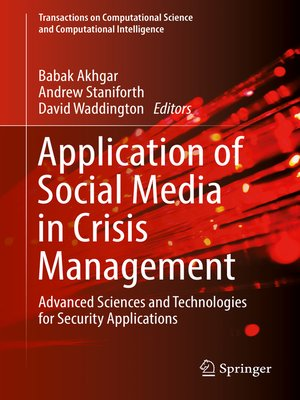 cover image of Application of Social Media in Crisis Management