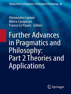 cover image of Further Advances in Pragmatics and Philosophy