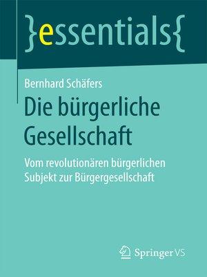 cover image of Die bürgerliche Gesellschaft