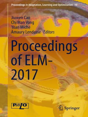 cover image of Proceedings of ELM-2017