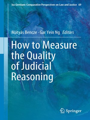 cover image of How to Measure the Quality of Judicial Reasoning