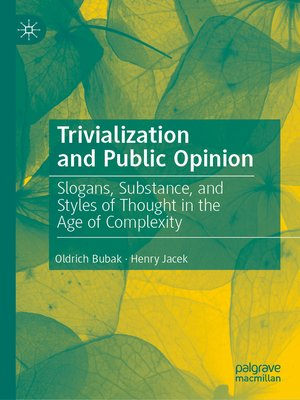 cover image of Trivialization and Public Opinion