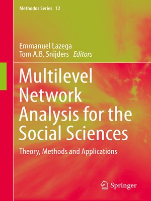 cover image of Multilevel Network Analysis for the Social Sciences