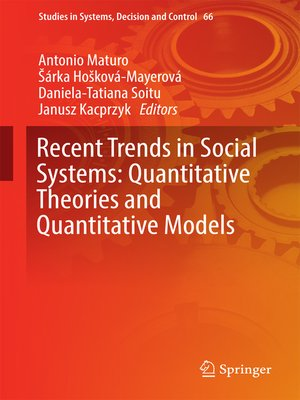 cover image of Recent Trends in Social Systems