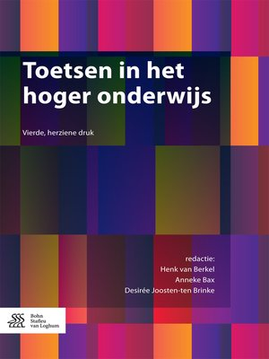 cover image of Toetsen in het hoger onderwijs
