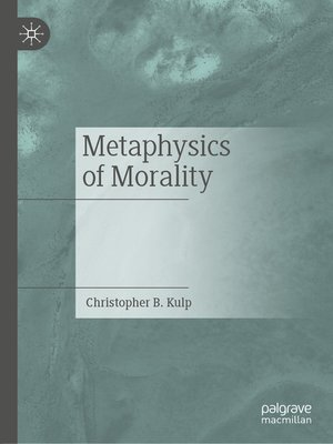 cover image of Metaphysics of Morality
