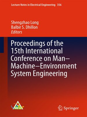 cover image of Proceedings of the 15th International Conference on Man–Machine–Environment System Engineering