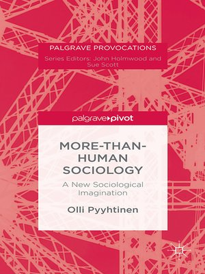 cover image of More-than-Human Sociology