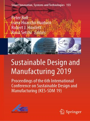 cover image of Sustainable Design and Manufacturing 2019